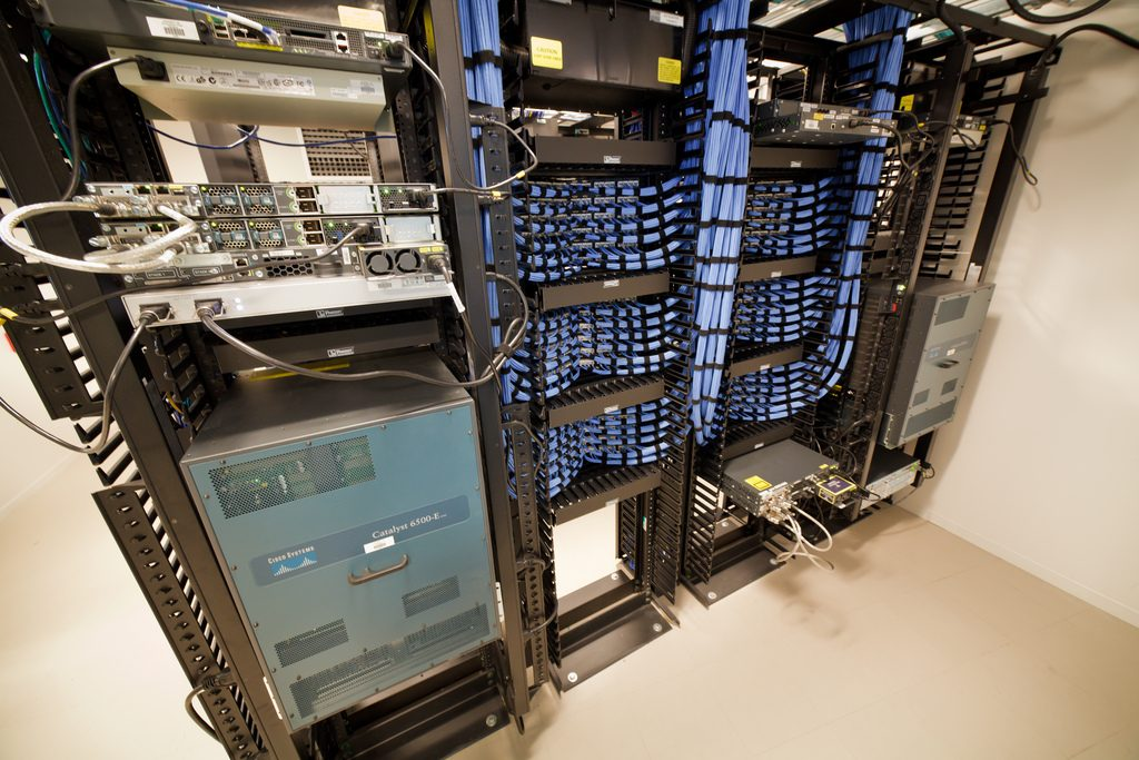 Organized and tidy server racks