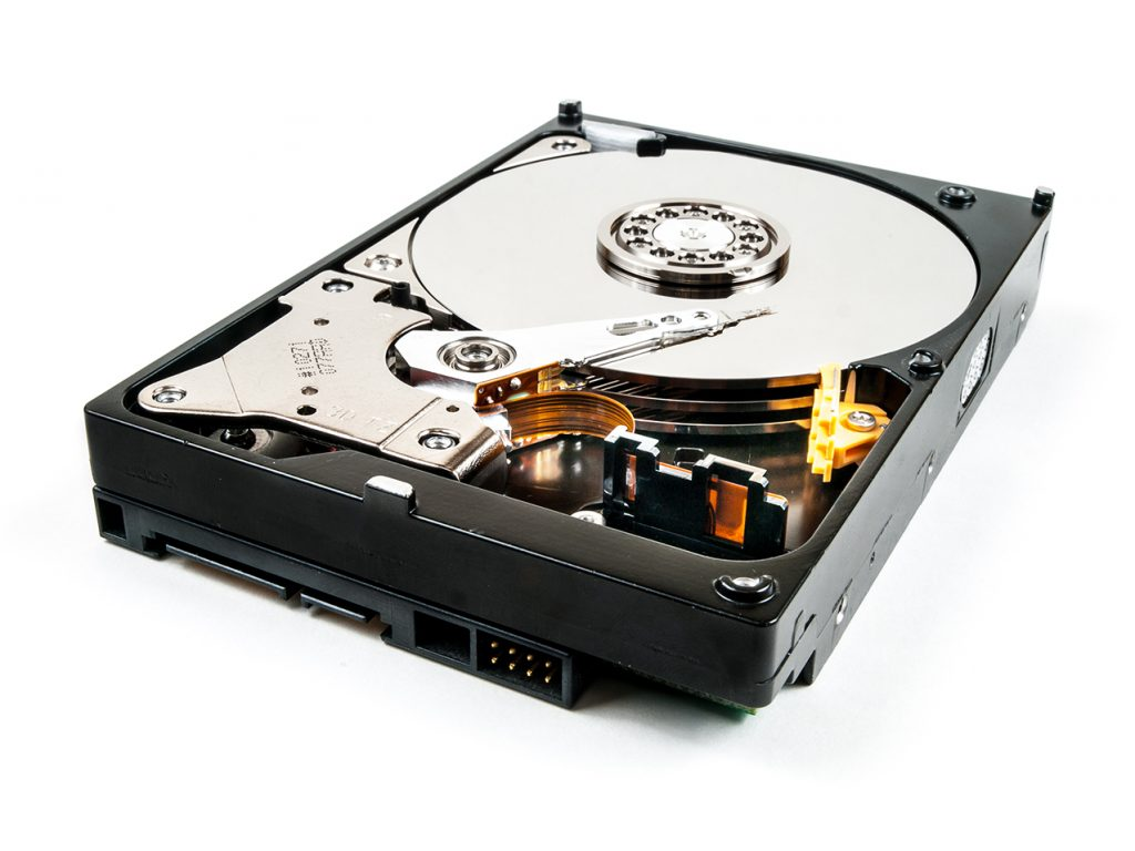 Hard Drive with cover removed