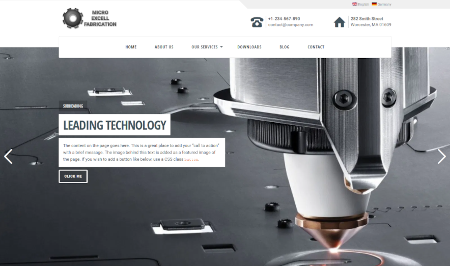 Fabrication themed website